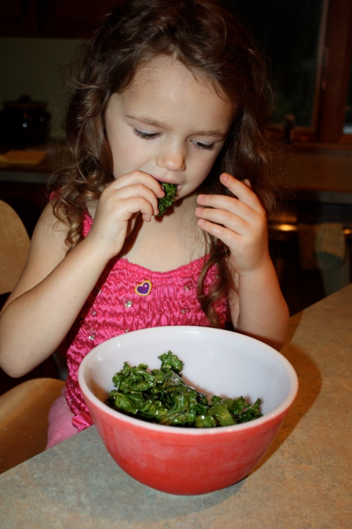 Eating Kale like potato chips!