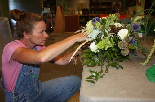 Flower bouquets for a special event.